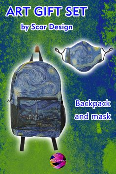 Art gifts by Scar Design. Famous paintings #facemasks and Backpacks. Stay Safe everywhere you go! #sale #sales #discount #backpack #facemask #masks #staysafe #mask #famouspaintings #VanGogh #StarryNight #findyourthing @redbubble @scardesign11 Famous Art, All Things Cute, Family Gifts, Stay Safe, Xmas Gifts, Design Art, Kids Room, Masks, Great Gifts