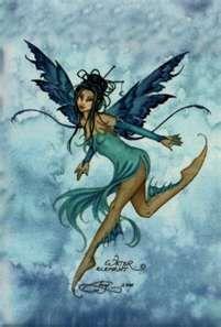 Amy Brown Fairies - Blue Magnet
