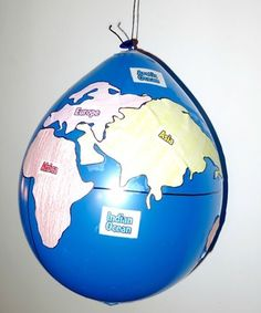 214 construct a globe depicting the four hemispheres seven geography balloon globes world maps gumiabroncs Choice Image