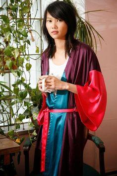yo elijo coser: DIY: kimono o bata de casa. Patrón gratis