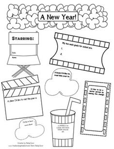 Free: Looking for a fun way to help your students set goals for the New Year?  This one page freebie is a fun way for your students to set goals and make resolutions.  Feel free to print it off and use in your classrooms!This freebie is part of a larger 9 page packet, Poppin' Into a New Year!