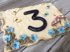 House Number Plaque, House Plaques, Door Plaques, Ceramic House Numbers, Door Numbers, Ceramic Houses, Address Plaque, Stoneware Clay, Frost
