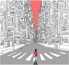Lonely Metropolis Digital Print / Wall Art / by janicej on Etsy, £16.00