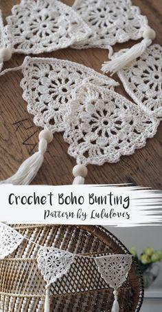Crochet Pattern: Boho Bunting Related Posts:Urban Gypsy Boho Bag – Free Crochet PatternBoho Tank Top pattern by Breann MauldinUrban Nomad Boho Bag – Free Crochet PatternEasy Crochet Boho Circle Purse Pattern – Free…Crochet Bunting Pattern Blog Crochet, Crochet Diy, Crochet Motifs, Crochet Amigurumi, Crochet Afghans, Crochet Gifts, Crochet Ideas, Crochet Tutorials, Crochet Squares