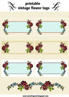 free digital vintage rose tags and border - ausdruckbare Etiketten - freebie | MeinLilaPark – DIY printables and downloads