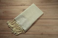 Honeycomb Hand Towel in Oatmeal with Metallic by FineFoutas