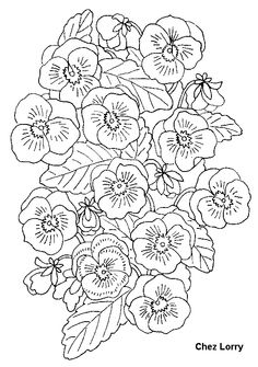 Free Flowers Coloring Page Pages 32 Printable