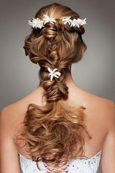 Wedding Braid with Flower Crown
