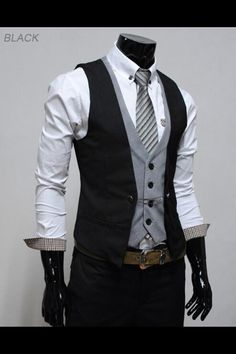 For the groom, double vest
