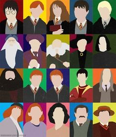 Harry Potter - minimalist portraits. Awesome as I totally know who they all are!!