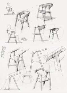 Thomas Feichtneru0027s Minimal A Chair Is Made Using Traditional Carpentry  Technique. (Concept Sketch