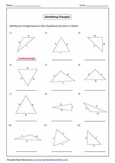 Triangle classification based on sides