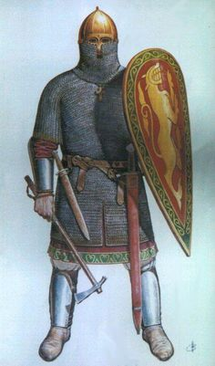 It will be useful for my building research in a Mod for another great strategy game - Medieval Total War - in. Medieval World, Medieval Knight, Medieval Armor, Armadura Medieval, Military Art, Military History, Vikings, Norman Knight, Viking Armor