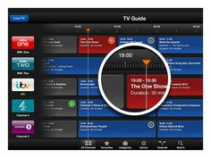 Apple TV Guide UI  by Sam Beckett TAGS: #timeline