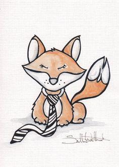 Nursery decor. Nursery artwork Fox woodland by SamanthaOBrien635