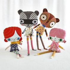 Go Go Dolls (Lila Raccoon) in Dolls & Stuffed Animals   The Land of Nod