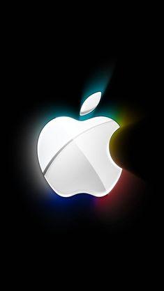 光彩アップルロゴ iPhone5 スマホ用壁紙 | スマホ壁紙 WALLPAPER BOX