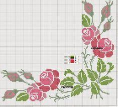 Gallery.ru / Фото #12 - oktobriow 2015 - ergoxeiro Cross Stitch Cards, Cross Stitch Rose, Cross Stitch Borders, Cross Stitch Flowers, Cross Stitch Designs, Cross Stitch Patterns, Hand Embroidery Design Patterns, Christmas Cross, Needlework