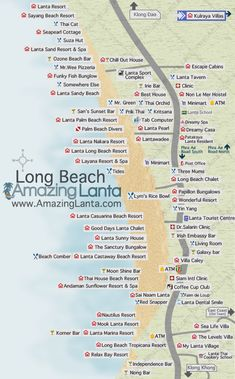 Long Beach Koh Lanta Map