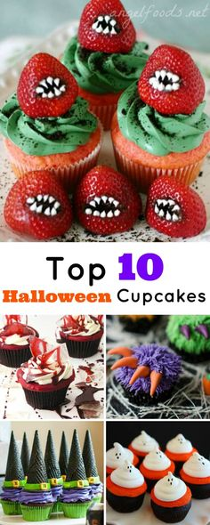 Top 10 Halloween Cupcakes | On the hunt for Halloween cupcake ideas for 2016 then I & TheRetroInc on Etsy | Pinterest | Frankenstein Sprinkles and Eye