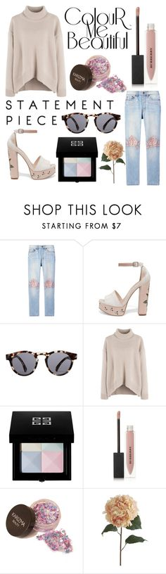 """Pastel Pop"" by marquaysab ❤ liked on Polyvore featuring Bliss and Mischief, Chinese Laundry, Illesteva, Givenchy, Burberry and Pier 1 Imports"