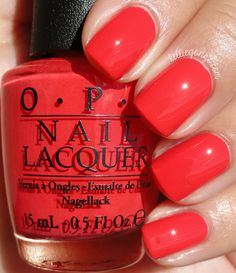 OPI Aloha From OPI // another wall color, less red than Cajun shrimp...