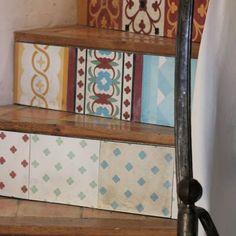 Escalera con baldosas hidráulicas #diseño