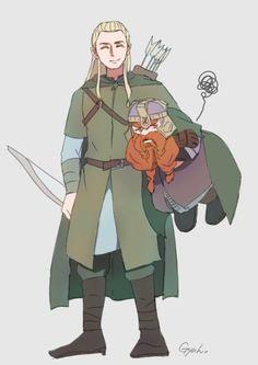 Гимли и Леголас