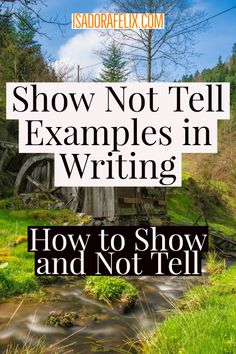 Show Not Tell Examples in Writing: How to Show and Not Tell. I bet, as a writer, you read everywhere that you must show and not tell. Memoir Writing, Book Writing Tips, Writing Lessons, Writing Quotes, Fiction Writing, Writing Resources, Teaching Writing, Writing Help, Writing Prompts