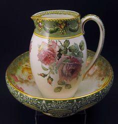 RP: Royal Doulton Pitcher Bowl Underglazed Indestructible Flowers Décor CA 1902 | eBay.com