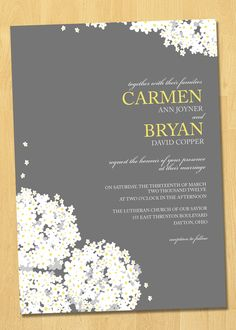 Printable Wedding Invitation LOVE Collection-Your Choice Colors. $35.00, via Etsy.
