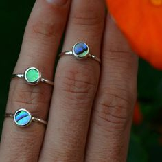 Tiny Abalone Shell Ring | Rings | Bella Beach Jewels
