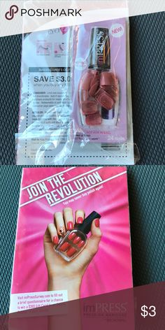 Press on manicure 24 nails, peel and press. Lasts a week. No glue needed. Free with purchase of 3 or more items from my closet! Other