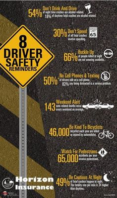 8 Driver Safety Tips #infographic