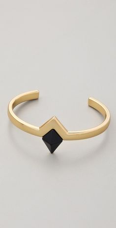 House of Harlow 1960 Black Triangle Cuff