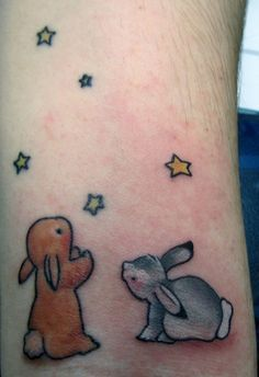 Cute Rabbits Watching Tiny Star Tattoos