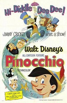 Walt Disney's Pinocchio (1940) Original Theatrical Poster