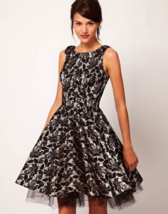 River Island Contrast Lace Prom Dress | ASOS $131.93