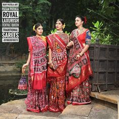 Ravi Patola Art Patan Patola Saree Real Double ikat Handlooms Wevars Traditionally Royal Laxurish Textile Sarees and Dupatta Indian Bridal Fashion, Indian Bridal Wear, Indian Wedding Outfits, Indian Outfits, Silk Anarkali Suits, Wedding Saree Blouse Designs, Saree Draping Styles, Bandhani Saree, Saree Look