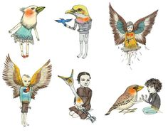 Fox & Comet — Set of Postcards: Birds  magdaboreysza.com
