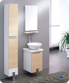Fresca Fvn8110 Adour 16 Wall Mounted Mdf Vanity With Mirror Sink Countertop Light Walnut Fixture