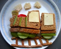 Choo Choo train sandwiches for my kids lunch today.