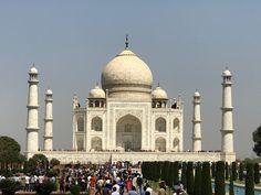 """The Taj Mahal and the reflecting pool."" Agra, India photo of ""The Pure white Taj Mahal."" by IgoUgo travel photographer, Famous Buildings, Famous Landmarks, Taj Mahal, Asia Travel, Solo Travel, 7 World Wonders, Agra Fort, Famous Architecture, Islamic Architecture"