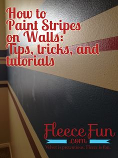 Learn what I discovered on how to paint amazing stripes on walls!