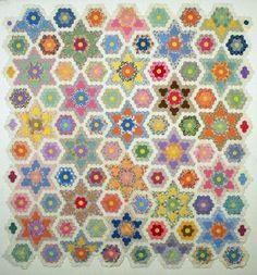 Rosebud Quilting: Grandmother's Flower Garden Quilts
