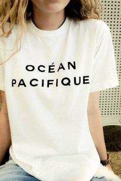 Brandy Melville Raven Ocean Pacifique Tee Graphics