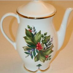 Winter Garden Princess House #1235 Coffee/Tea Server Porcelain Christmas | eBay