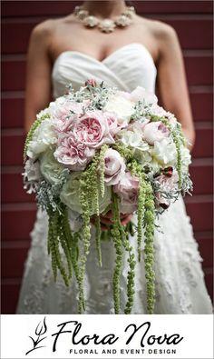 Bridal bouquet by Flora Nova, Seattle WA florist; photo by Ashley Paul Studio | junebugweddings.com
