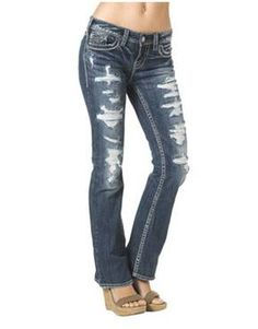 Silver Jeans Juniors Jeans, Suki Bootcut, Dark Wash   Macys ...