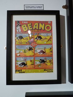 The first ever Beano cover. Part of the Beano exhibition on the Southbank. Dandy, Graphics, Cover, Frame, Decor, Decorating, Graphic Design, Dandy Style, Slipcovers